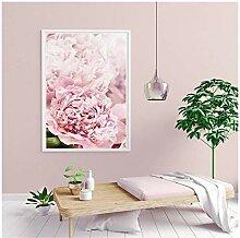 AdoDecor Rosa Pfingstrose Blume Plakate und Drucke