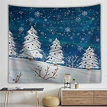 AdoDecor Schneedekoration Wandteppich Wandbehang