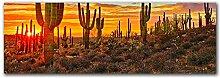 AdoDecor Sonnenuntergang Wanddekoration Bild