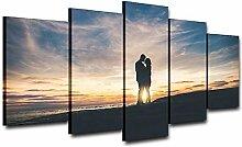 AdoDecor Sunset Seaside Lovers Künstlerisch