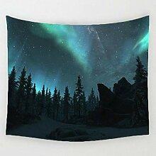 AdoDecor Wanddeko wandteppich Nachthimmel Aurora