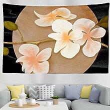 AdoDecor Wanddeko wandteppich Pflanze Illustration
