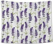 AdoDecor Wanddeko wandteppich Pflanze Lavendel