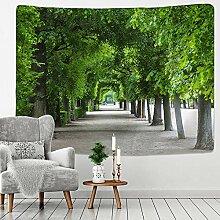 AdoDecor Wandteppich Baum Wald Sternenhimmel