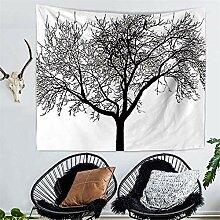 AdoDecor Wandteppich Boho Mandala Pflanze Natur
