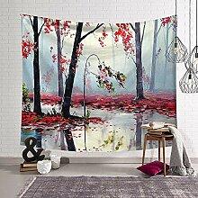 AdoDecor Wunschbäume Wandteppich Wandbehang Wand