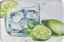 ADONINELP Glas Gin Tonic mit Eiswürfeln und
