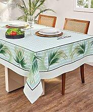 AdonisUSA Tischdecke mit Blumenmuster, Weiß /