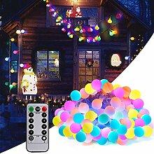 Adoric LED Lichterkette 10m Glühbirne bunt