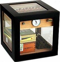 Adorini Humidor Cube Deluxe schwarz inkl.