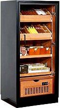 Adorini Humidor Schrank Ravenna - Deluxe schwarz inkl. elektr. Befeuchter inkl. Lifestyle-Ambiente Tastingbogen