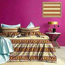 Adorise Three-Piece-Bett Bettbezug Antike Mäander