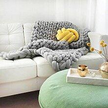 Adorist Merino Wolldecke Cosima Chunky Knit Small