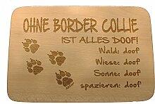 AdriLeo Frühstücksbrettchen Ohne Border Collie