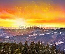 adrium Acrylbild-Bild 20 x 20 cm:Majestic sunset
