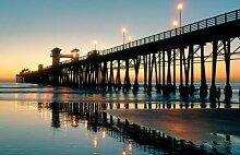 adrium Acrylbild-Bild 90 x 60 cm:oceanside sunset,