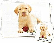 Advanta - Coaster and Placemat Set Labrador + Rose
