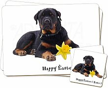 Advanta - Coaster and Placemat Set Rottweiler Twin