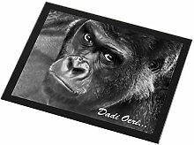 Advanta - Glass Placemats Welsh Gorilla 'Dadi