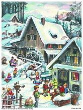 Adventskalender A4- Winter im Dorf