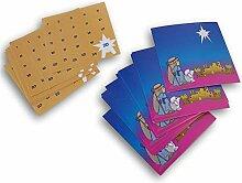 Adventskalender Bethlehem Sky Krippenaufkleber