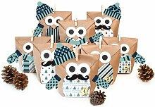Adventskalender Christmas Owl Blue (Set of 3) Die