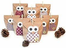 Adventskalender Christmas Owl Red Die Saisontruhe