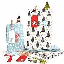 Adventskalender füllen Sie sich Weihnachtstasche