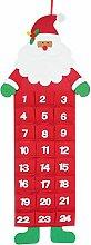 Adventskalender Kinder Filz Santa, Adventskalender