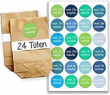 Adventskalender Miniset 10 - Aufkleber und Tüten