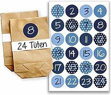 Adventskalender Miniset 2 - Aufkleber und Tüten