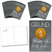 Adventskalender mit 24 Karten/Gutscheine oder