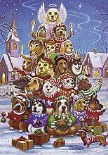 Adventskalender mit Hundemotiv (Countdown bis