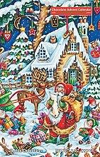 Adventskalender mit Weihnachtsmann-Helpers-Motiv,