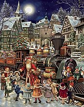 Adventskalender mit Weihnachtsmann-Motiv