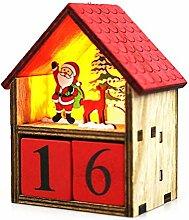 Adventskalender, Santa Countdown Kalender, LED