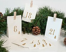 Adventskalender Simple (Set of 3) Die Saisontruhe