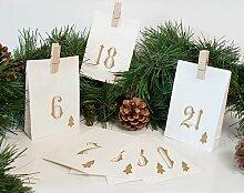 Adventskalender Simple (Set of 3) Die Saisontruhe