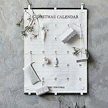 Adventskalender Stoff zum Befüllen Kinder /