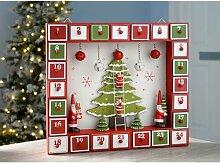 Adventskalender Weihnachtshaus mit Baum Die