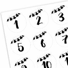 Adventskalender Zahlen 1-24 - Girlande #2 - Zahlen