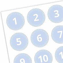 Adventskalender Zahlen Aufkleber 1-24 dots -