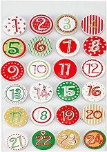 Adventskalender-Zahlen Sticker Zahlen Advent