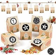 Adventskalender zum Befüllen, 24 Adventskalender