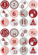 Adventskalender zum Befüllen,24 Adventskalender