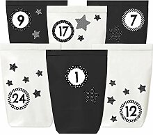 Adventskalender zum Befüllen - 24 Papiertüten in