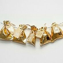 Adventskalender zum Befüllen 'Gold