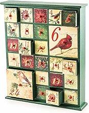Adventskalender zum Befüllen Birds 24 Schubladen