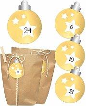 Adventskalender zum Befüllen | Christbaumkugel