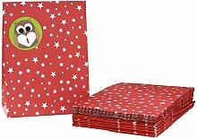 Adventskalender zum Befüllen Eule braun grün rot